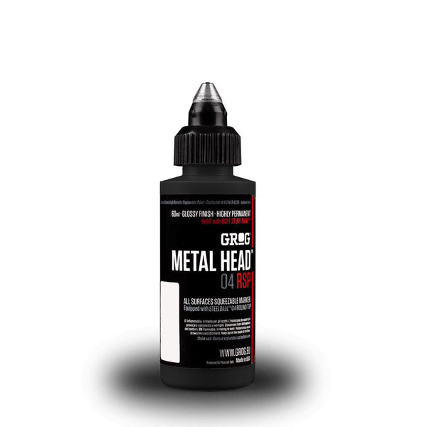 Grog Metal Head 4mm Steel Metal Tip Marker - Death Black
