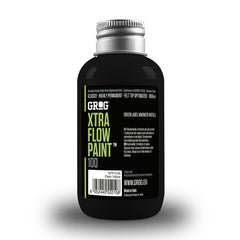 Grog Xtra Flow 100ml Paint Refill - Death Black