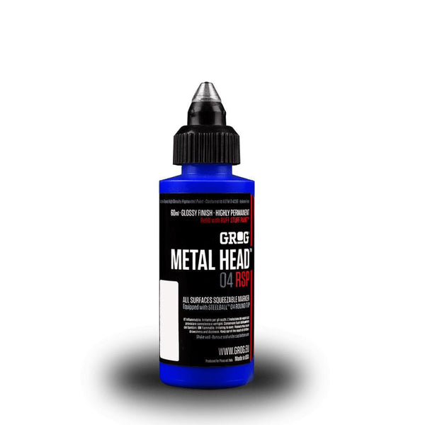 Grog Metal Head 4mm Steel Metal Tip Marker - Diving Blue