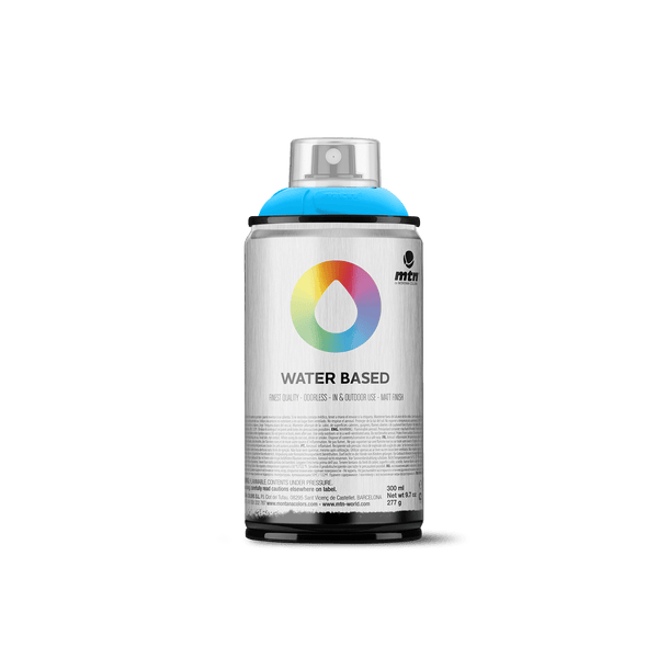 MTN Water Based 300 Spray Paint - Fluorescent Blue | Spray Planet