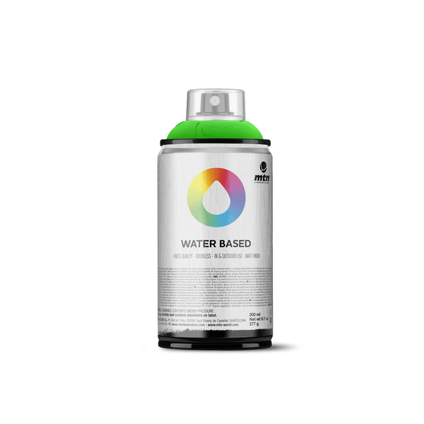 MTN Water Based 300 Spray Paint - Fluorescent Green | Spray Planet