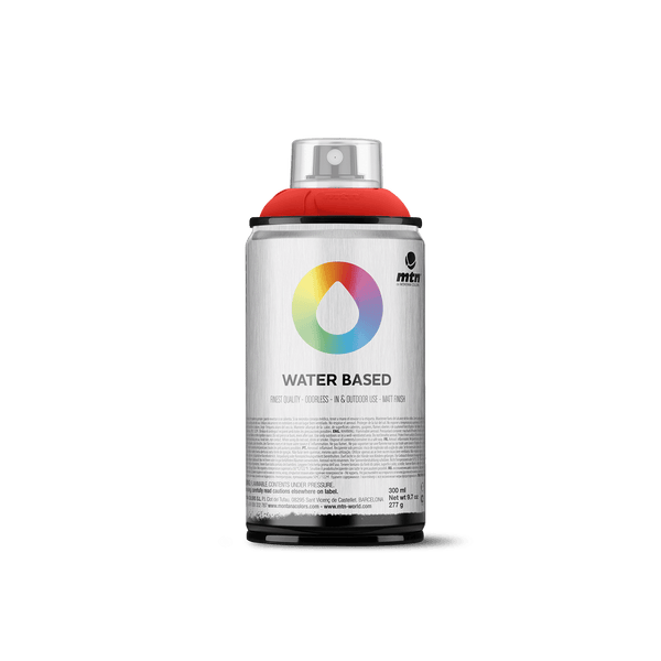 MTN Water Based 300 Spray Paint - Fluorescent Red | Spray Planet