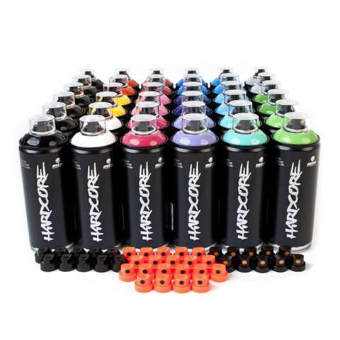 MTN Hardcore High Pressure 36 Spray Can Pack | Spray Planet