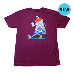 Happy Spraymore Tee - Maroon