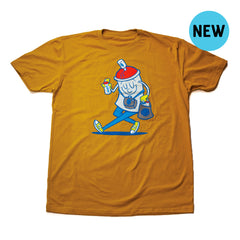 Happy Spraymore Tee - Yellow Ochre