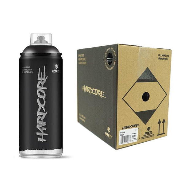 Montana Colors MTN Hardcore Black 400ml 6 Pack