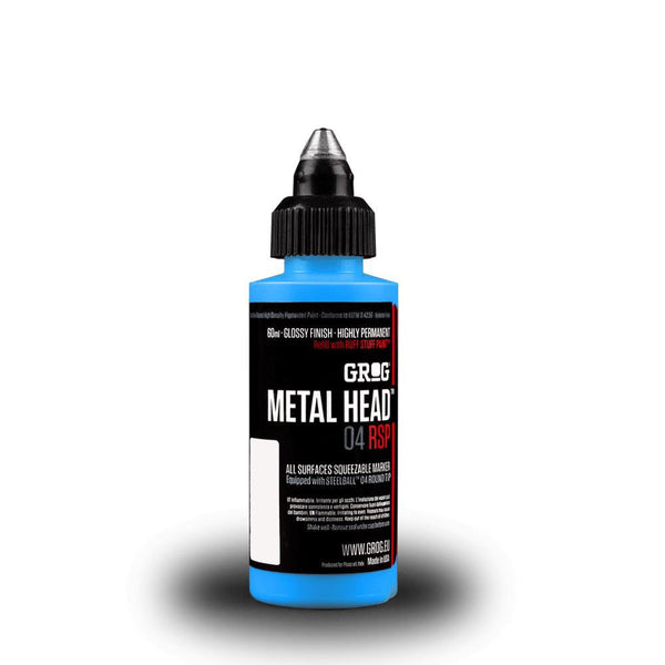 Grog Metal Head 4mm Steel Metal Tip Marker - Iceberg Blue