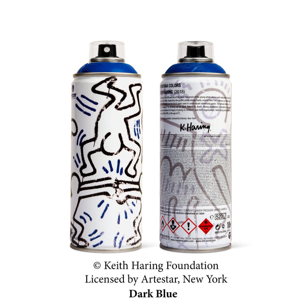 MTN Keith Haring Special Edition Artist Series Can - Dark Blue | Montana Colors | Spray Planet