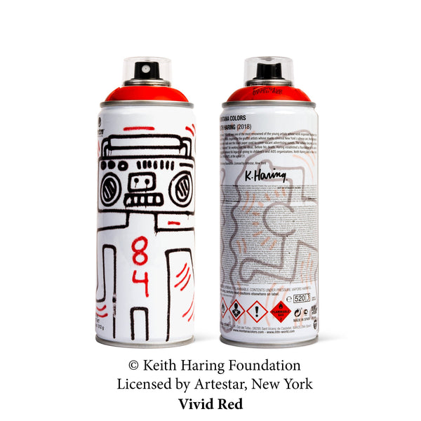 MTN Keith Haring Special Edition Artist Series Can - Vivid Red | Montana Colors | Spray Planet