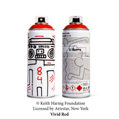 Keith Haring Special Edition Can - Vivid Red