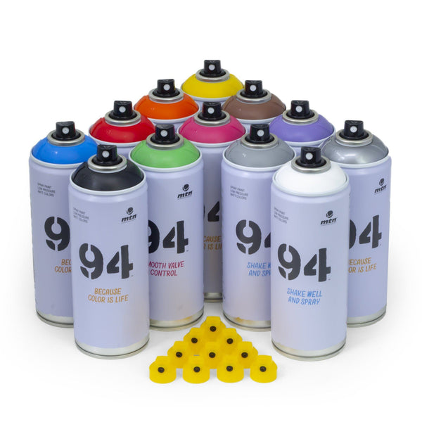 MTN 94 Primary Color 12 Pack | Spray Planet