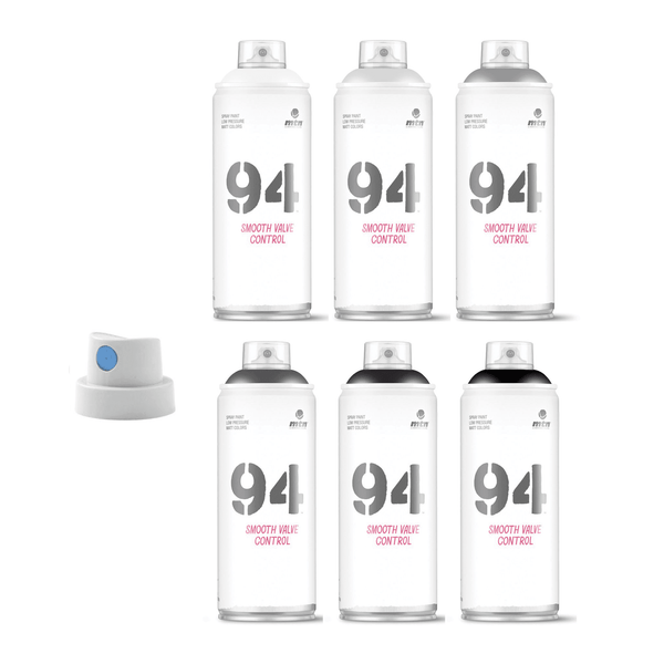 MTN 94 Warm Grey Scale 6-Pack | Spray Planet