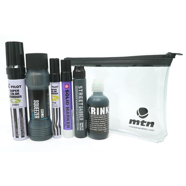 Montana Colors MTN All Black Marker Pack