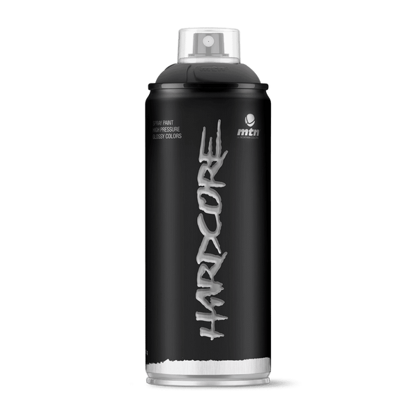 MTN Hardcore Spray Paint - Matte Black | Spray Planet