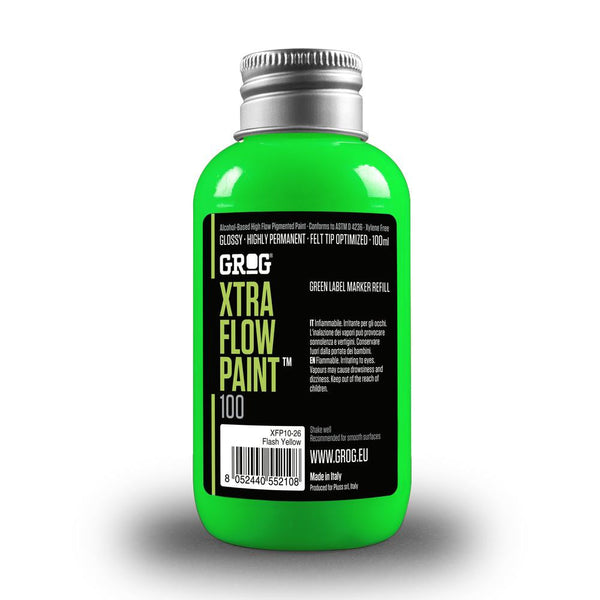 Grog Xtra Flow 100ml Paint Refill - Neon Green