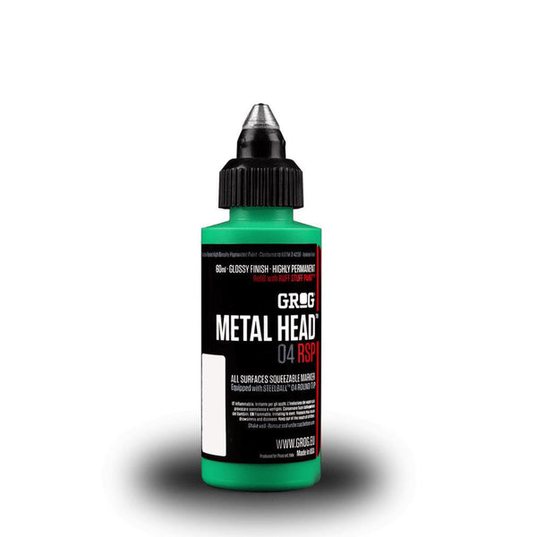 Grog Metal Head 4mm Steel Metal Tip Marker - Obitory Green