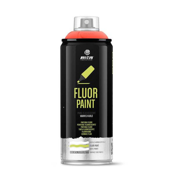 MTN PRO Fluor Spray Paint - Fluorescent Red | Spray Planet