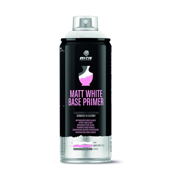MTN PRO Matte White Base Spray Primer | Spray Planet