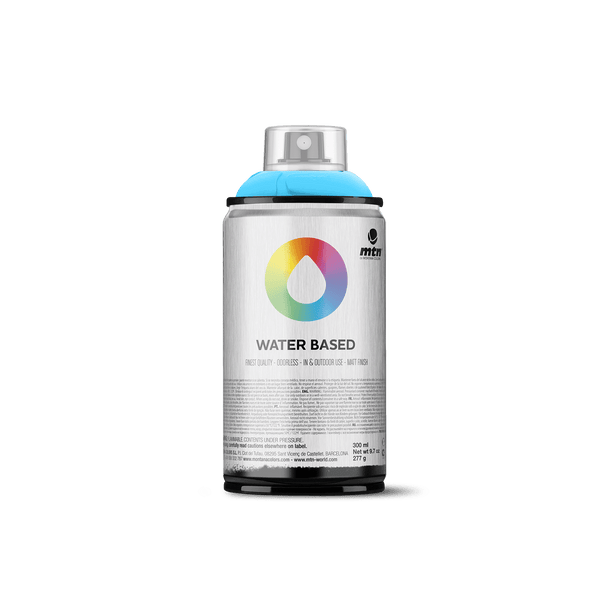 MTN Water Based 300 Spray Paint - Phthalo Blue Light | Spray Planet