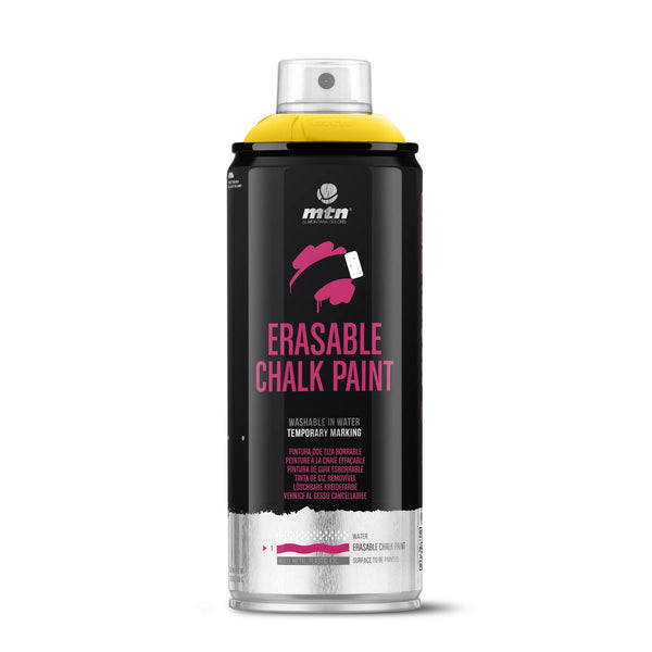 MTN PRO Erasable Chalk Spray Paint 400ml - Light Yellow | Spray Planet