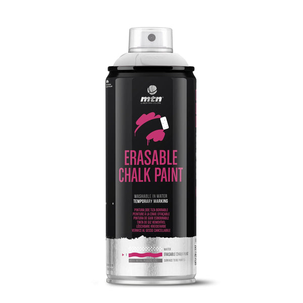 MTM PRO Erasable Chalk Spray Paint 400ml - Silver | Spray Planet