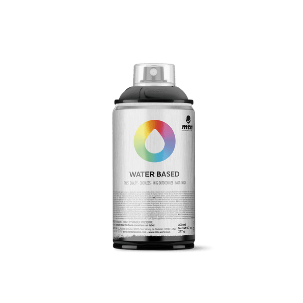 MTN Water Based 300 Spray Paint - Semi-Transparent Black | Spray Planet