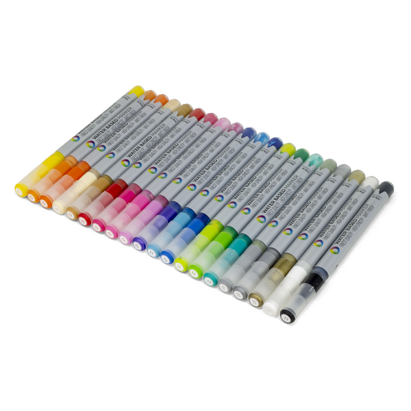 MTN Water Based Extra Fine Marker Set - 20 Pack | Montana Colors | Spray Planet