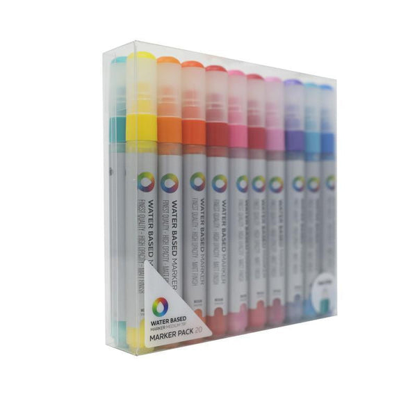Montana Colors MTN Water Based Paint Marker Pack  5m Mixed Color Medium 20 Pack
