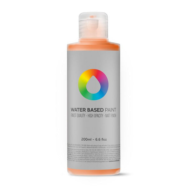 MTN Water Based Paint Refill 200ml - Azo Orange | Spray Planet