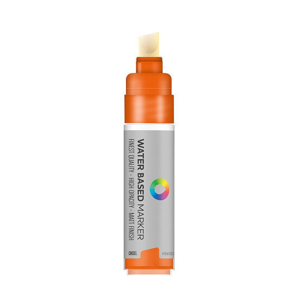 MTN Water Based Chisel Marker 8mm - Azo Orange | Spray Planet