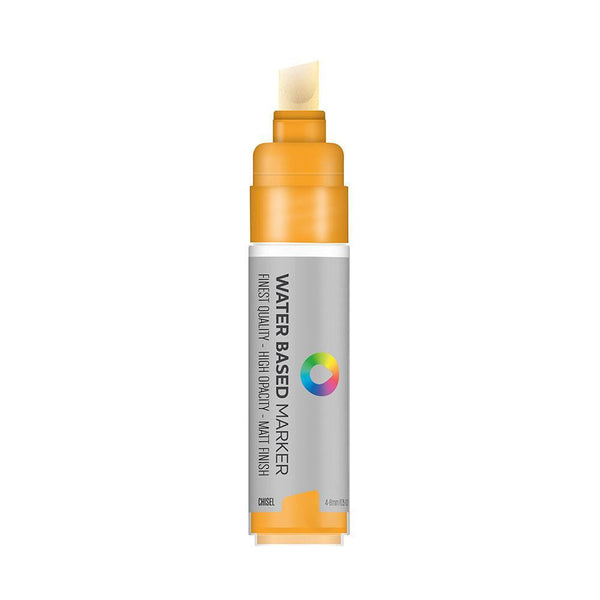 MTN Water Based Chisel Marker 8mm - Azo Orange Light | Spray Planet