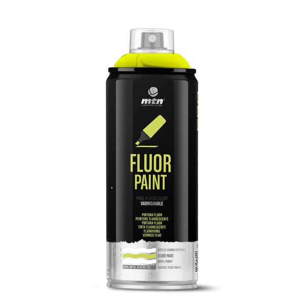 MTN PRO Fluor Spray Paint - Fluorescent Yellow | Spray Planet