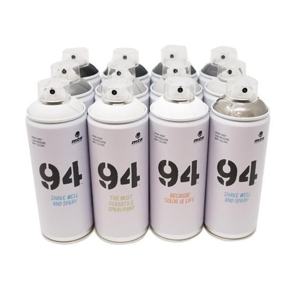 MTN 94 Greyscale 12 Pack | Spray Planet