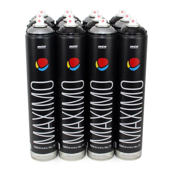 Montana Colors MTN Spray Paint Packs - Heavy Metal Silver and black Maximo Spray Can Pack