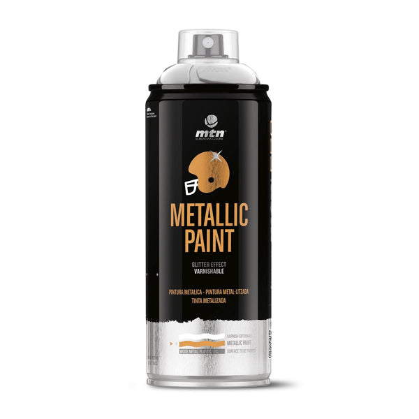 MTN PRO Metallic Spray Paint - Metallic Aluminium | Spray Planet