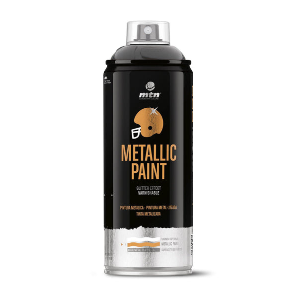 MTN PRO Metallic Spray Paint - Metallic Black | Spray Planet