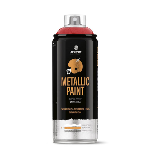 MTN PRO Metallic Spray Paint - Metallic Red | Spray Planet
