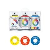 MTN Water Based Spray Paint </br> 100ml 3 Pack - Blue Red Yellow