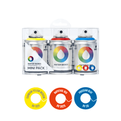 MTN Water Based<br>Spray Paint<br>100ml 3 Pack<br>Blue/Red/Yellow