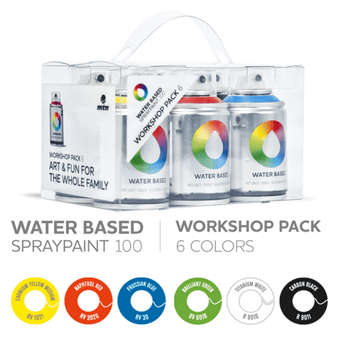 MTN Water Based Spray Paint </br> 100ml 6 Pack