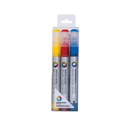 MTN Water Based 3m Marker Pack(Red/Yellow/Blue) | Spray Planet