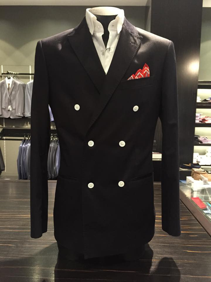 Mayson Navy Double Breasted Blazer