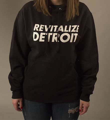 Revitalize Detroit Hoodie - Black/White