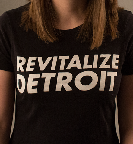 Revitalize Detroit Women's Fitted Tee - Black/White