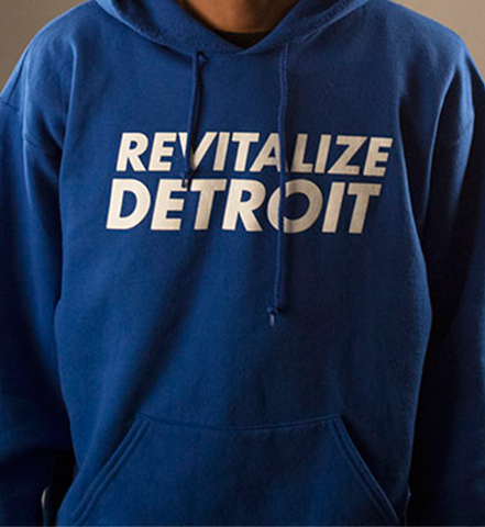 Revitalize Detroit Hoodie - Royal/White