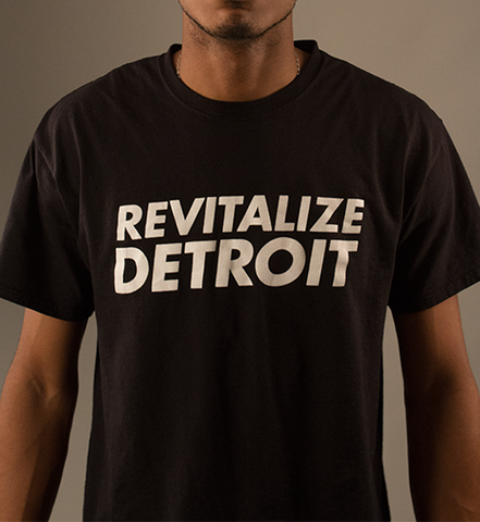 Revitalize Detroit Tee - Black/White