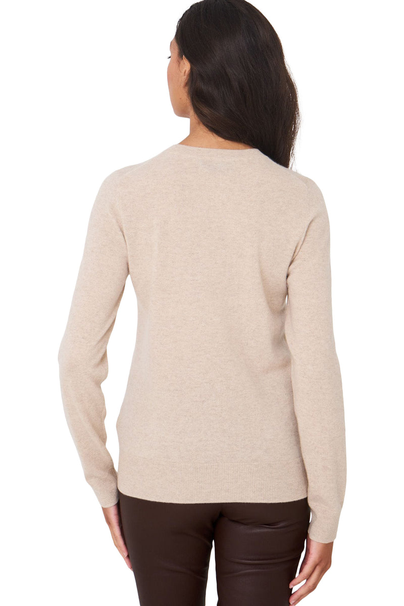 Repeat Cashmere Baby Cashmere Crewneck Sweater in Beige