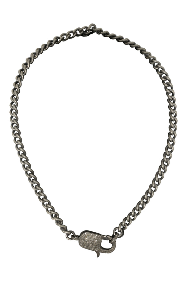 Paula Rosen Silver Plated Chain with Diamond Clasp