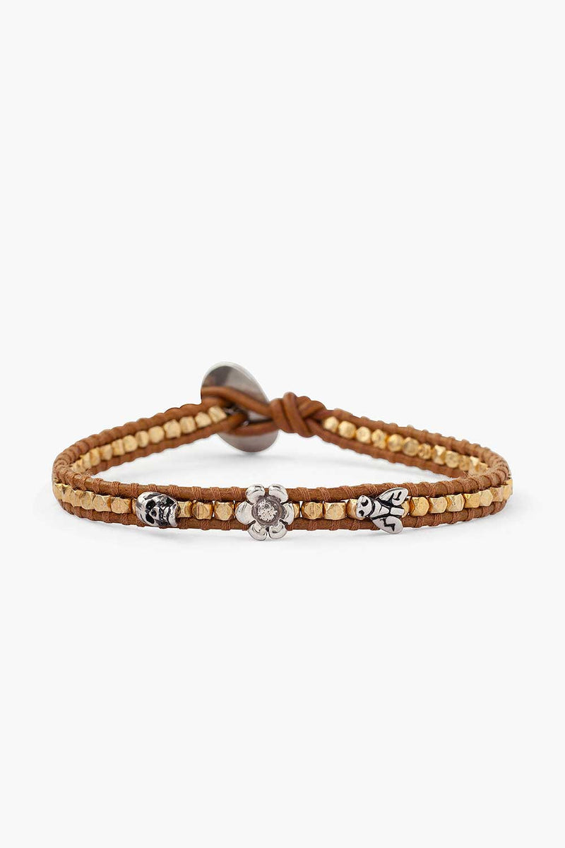 Chan Luu Henna Leather Wrap Bracelet