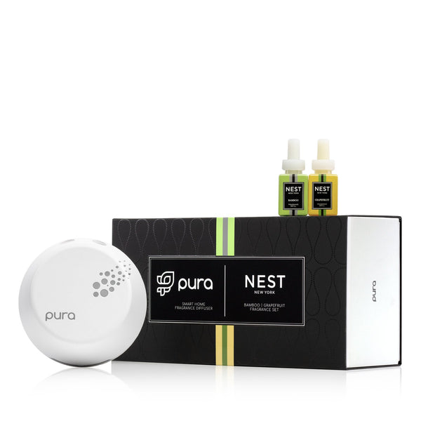 NEST Pura Smart Diffuser Set in Bamboo / Grapefruit